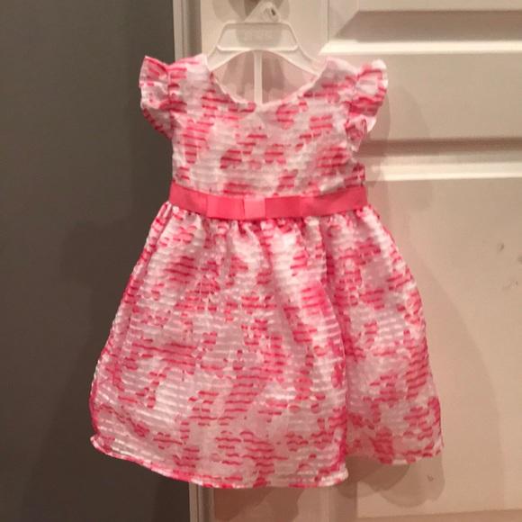 Sweet Heart Rose Baby Girls/' Sleeveless Sundress PINK Dress Baby Toddler NEW